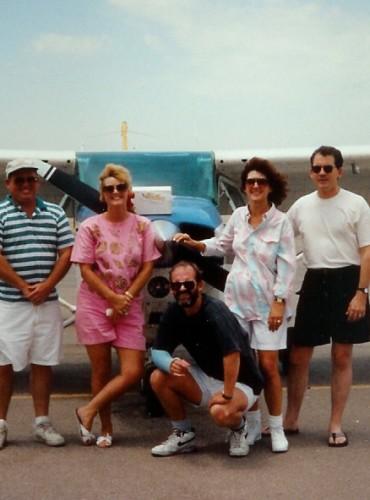 Dad's funeral – 1993 – Ron, Shelley, Terry, Dee Dee, Jeff