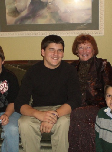 Mom and Amy's boys – her last Christmas – 2009